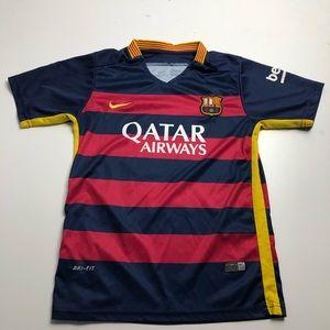 Nike Dri Fit Suarez Barcelona Youth Jersey Medium
